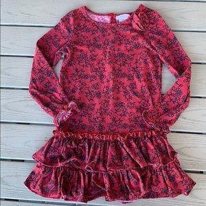3/$20{Sweet Heart Rose}Sz 6 Red/black Dress